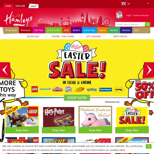 Toys and Games from Hamleys Toy Shop - the Finest Childrens Toy Shop in the World