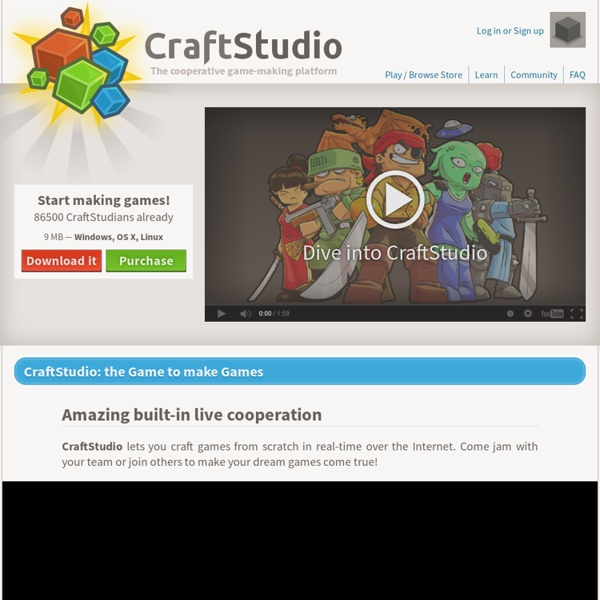 Make games together with CraftStudio