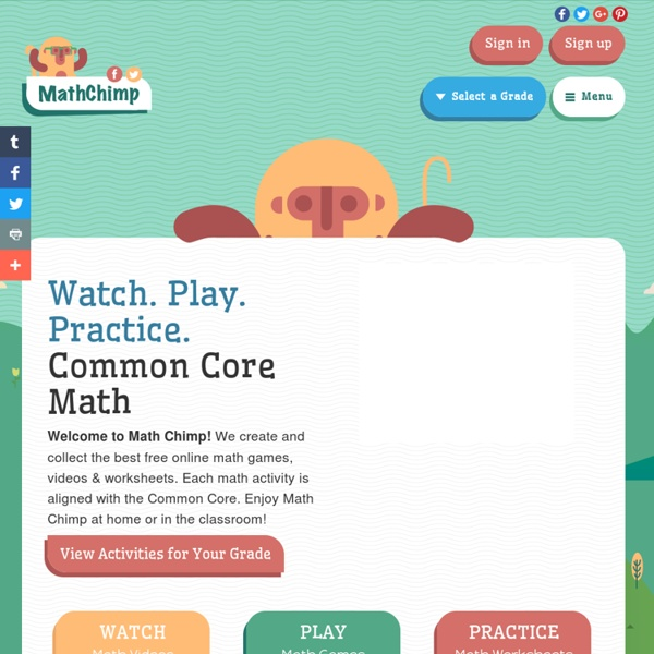 Math Games, Videos, and Worksheets for the Common Core