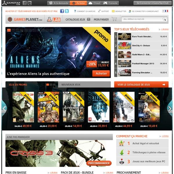 GamesPlanet - Télécharger vos jeux PC et Mac rapidement
