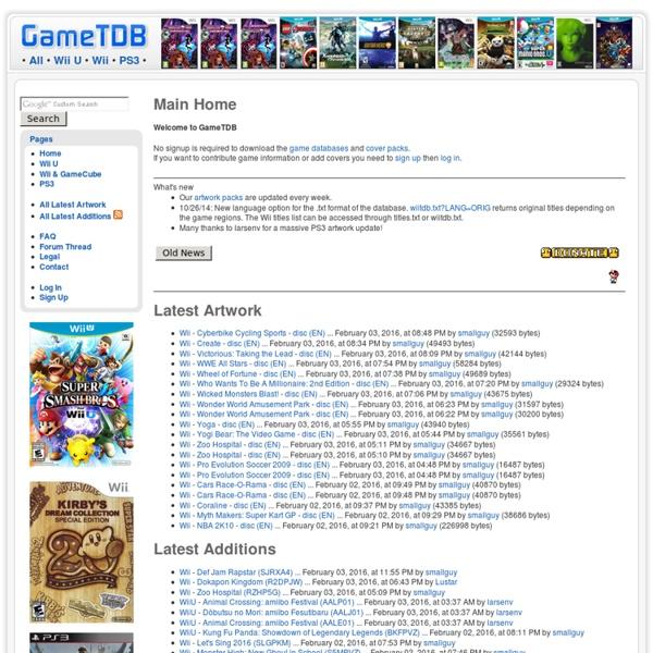 GameTDB - games database