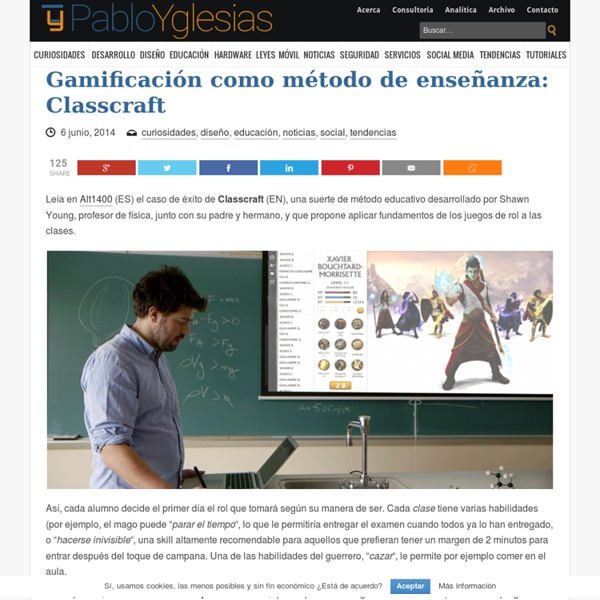 Gamificación como método de enseñanza: Classcraft