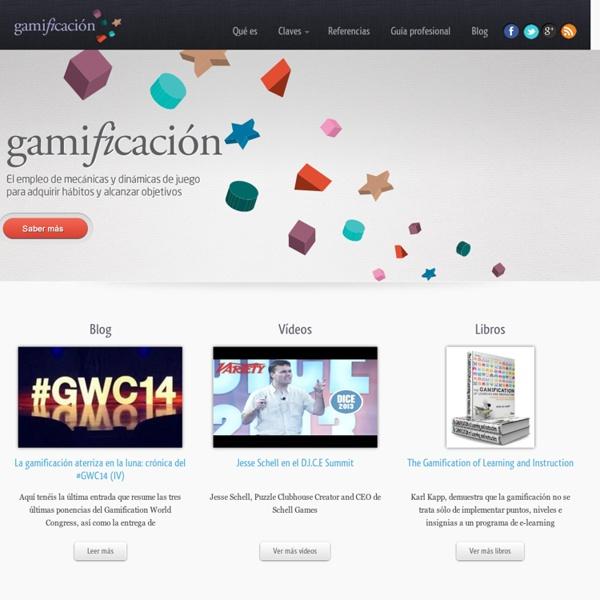 Gamificación (gamification): el empleo de mecánicas de juego en entornos y aplicaciones no lúdicas.