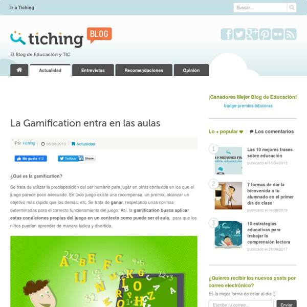 La Gamification entra en las aulas