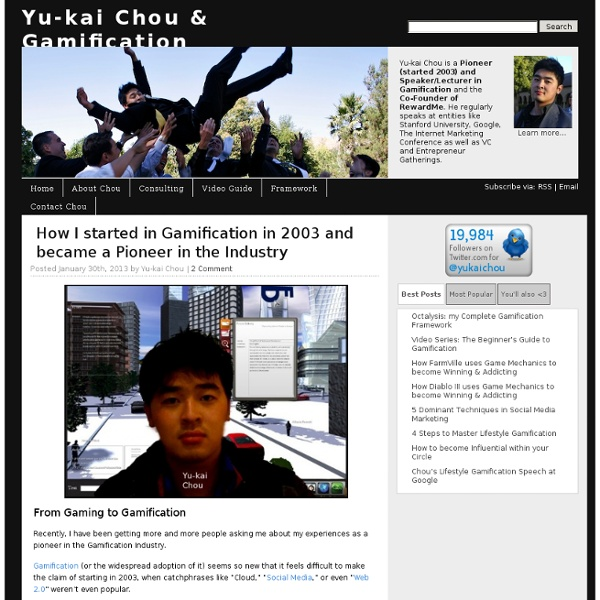 Yu-kai Chou & Gamification
