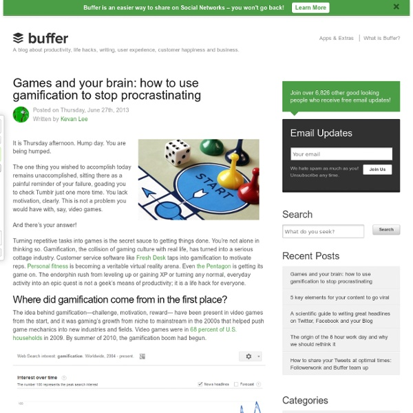 Games and Your Brain: How to Use Gamification to Stop Procrastinating