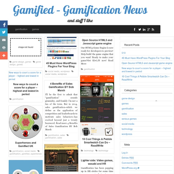 Gamification, Social Media, Technology, Games - Andrzej's Blog