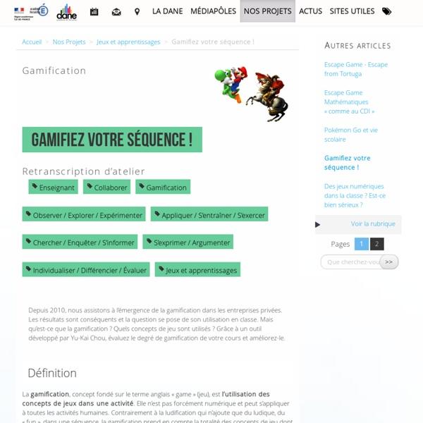 Gamifiez votre séquence ! - Délégation académique au numérique éducatif