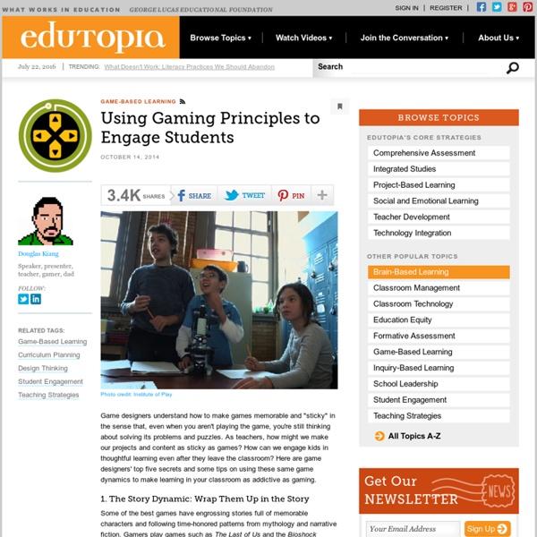 Using Gaming Principles to Engage Students
