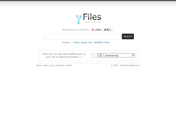 GammaFiles - Real Time Files Search - Rapidshare and Megaupload