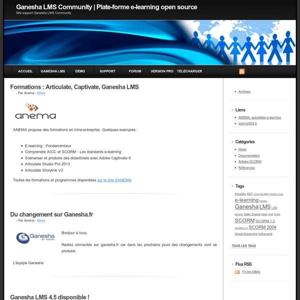 Ganesha LMS : plate-forme e-learning open source SCORM