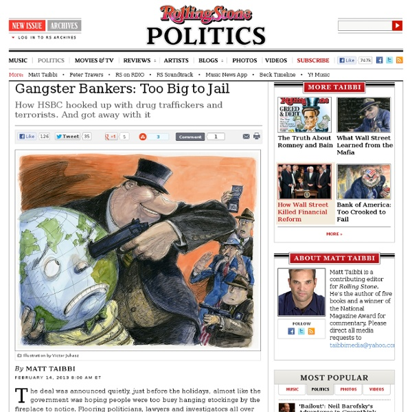 Gangster Bankers: Too Big to Jail