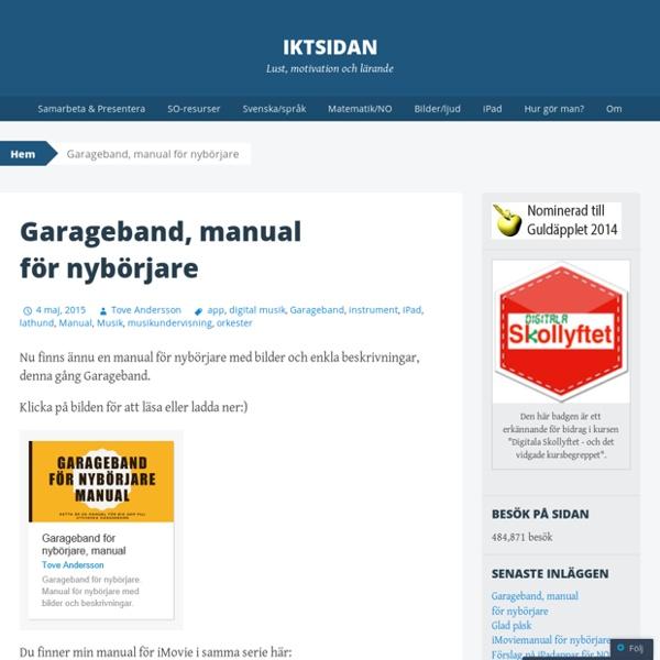 Garageband, manual för nybörjare