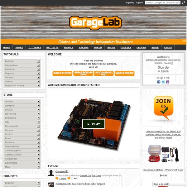 GarageLab (arduino, electronics, robotics, hacking) - #42