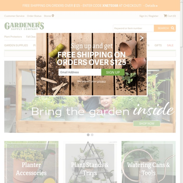 Garden Tools, Planters, and More