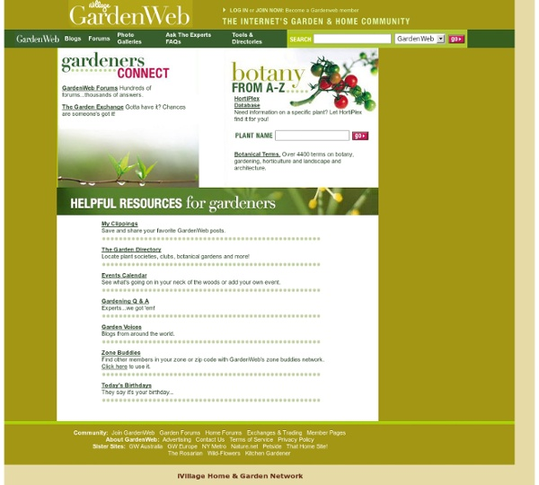 GardenWeb - The Internet's Garden Community
