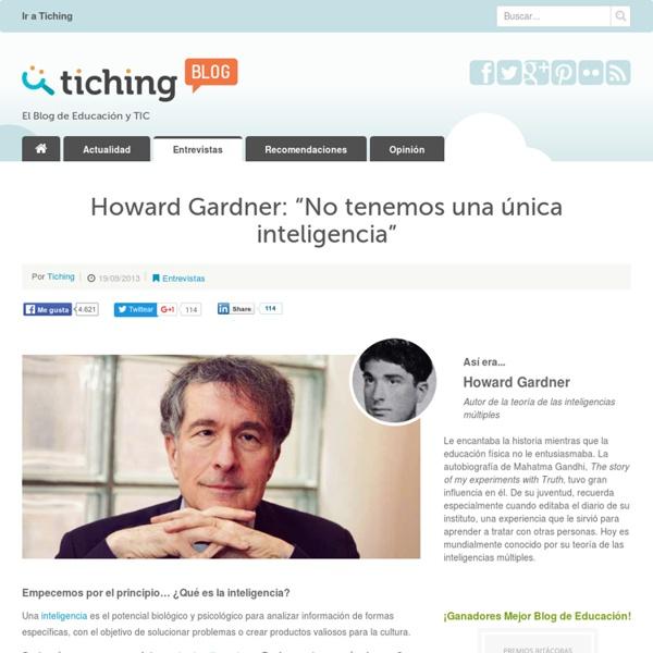 """Howard Gardner: """"No tenemos una única inteligencia"""""""