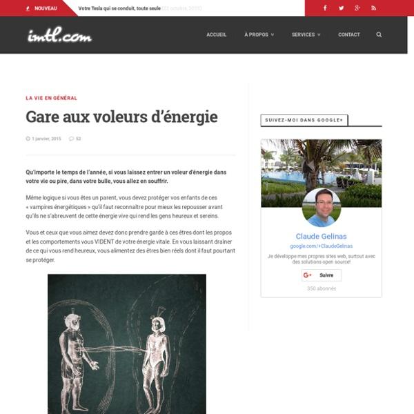 Gare aux voleurs d'énergie - imtl.com