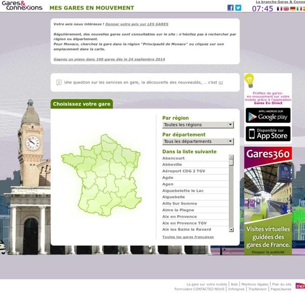 Gares en Mouvement, le site officiel des gares SNCF
