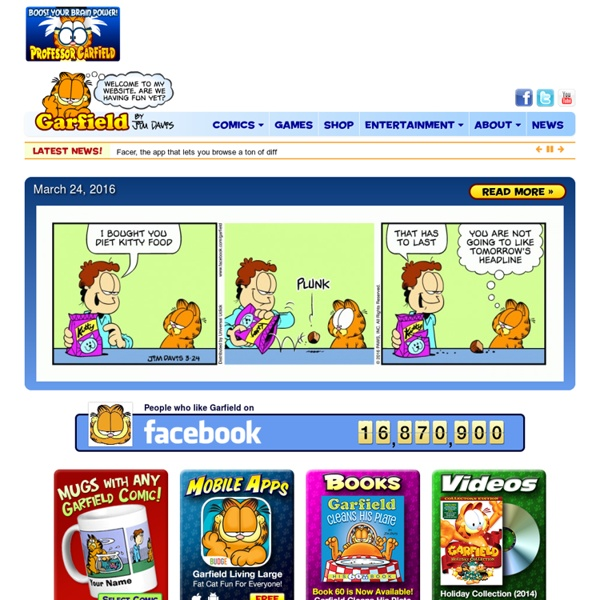 Garfield and Friends - The Official Site featuring Today's Comic, Games, News, Videos and more. Garfield.com