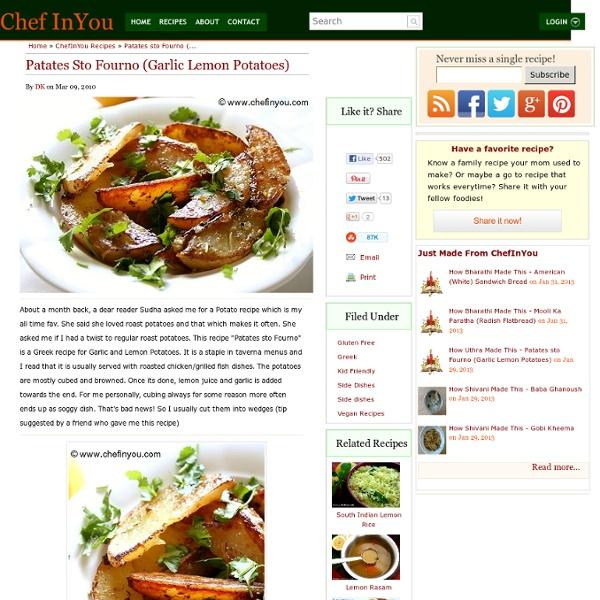 Greek Garlic-Lemon Potatoes Recipe