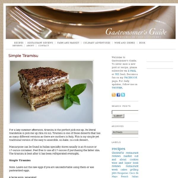 Gastronomer's Guide: Simple Tiramisu