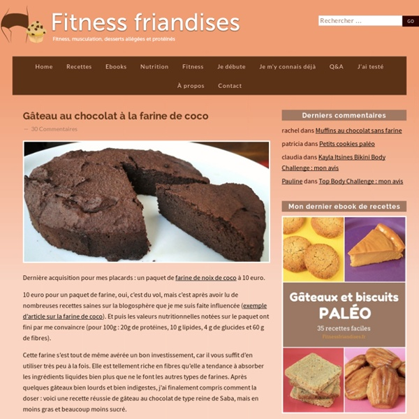 Gâteau au chocolat à la farine de coco (régime paléo)