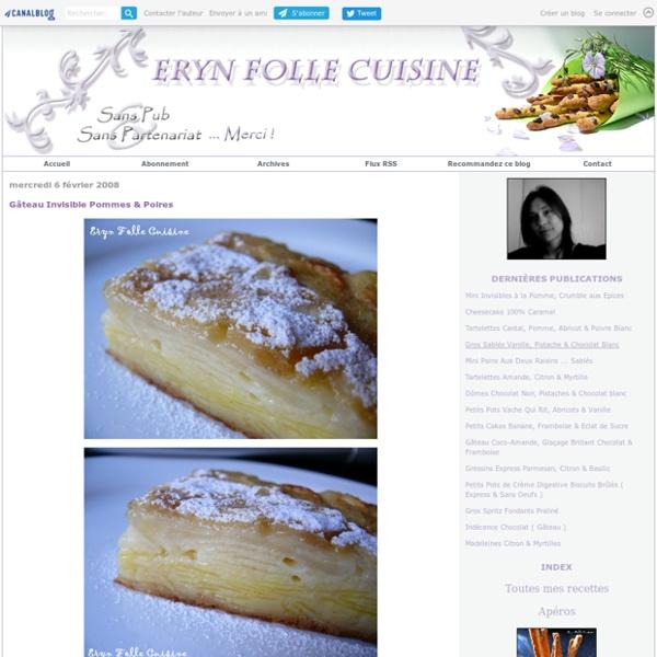 Gâteau Invisible Pommes & Poires