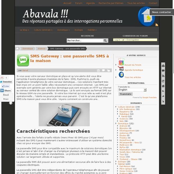 SMS Gateway : une passerelle SMS à la maison