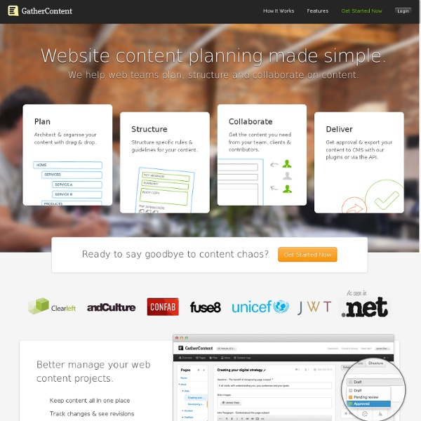 GatherContent - The easy way to manage content development.
