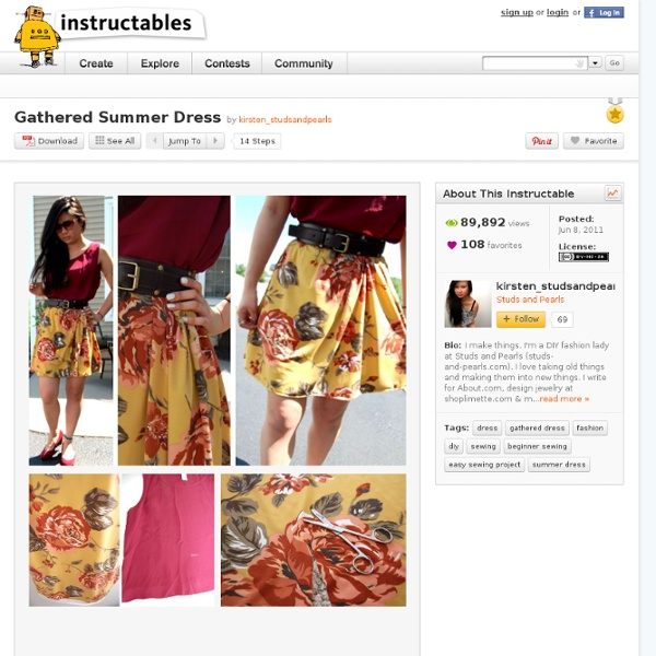 Gathered Summer Dress