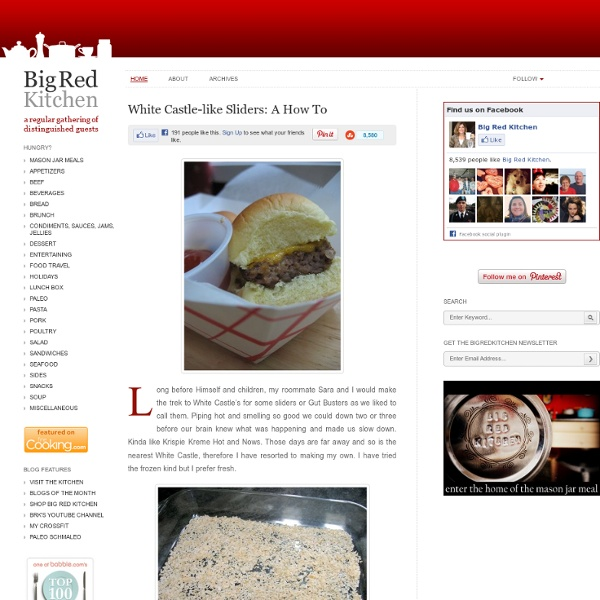 Big Red Kitchen: White Castle-like Sliders: A How To
