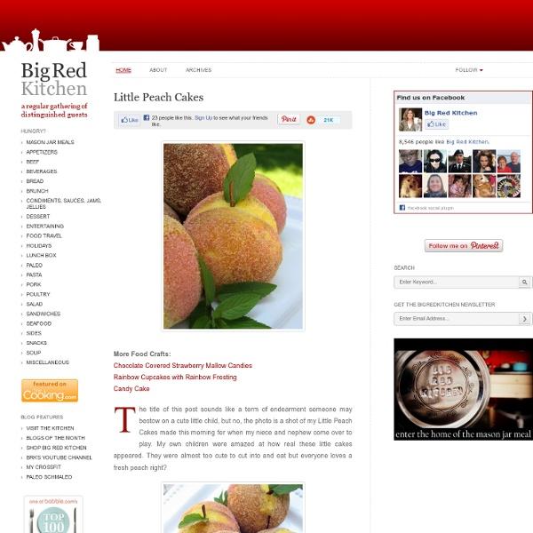Big Red Kitchen: Little Peach Cakes