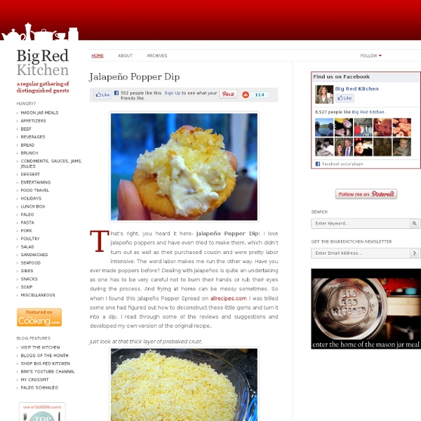 Big Red Kitchen: Jalapeño Popper Dip