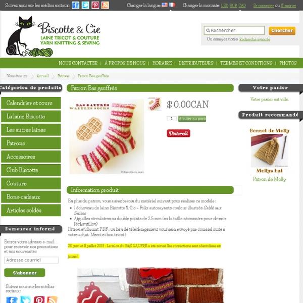 Bas gauffrés de Biscotte & Cie