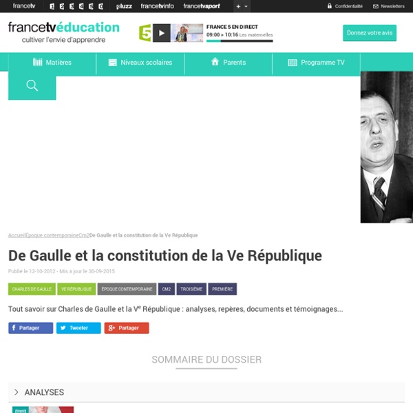 De Gaulle et la constitution de la Ve République