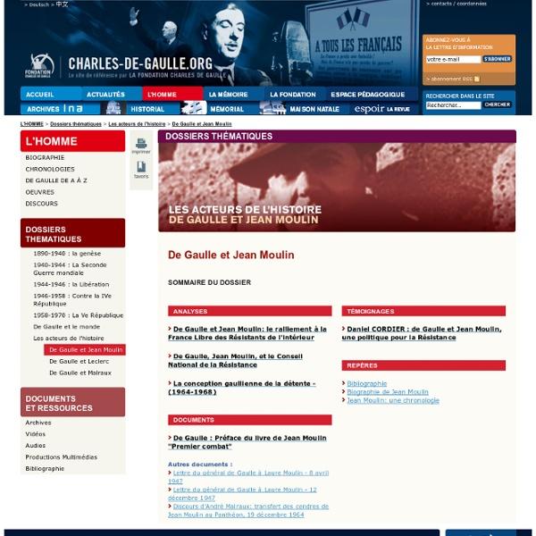 De Gaulle et Jean Moulin