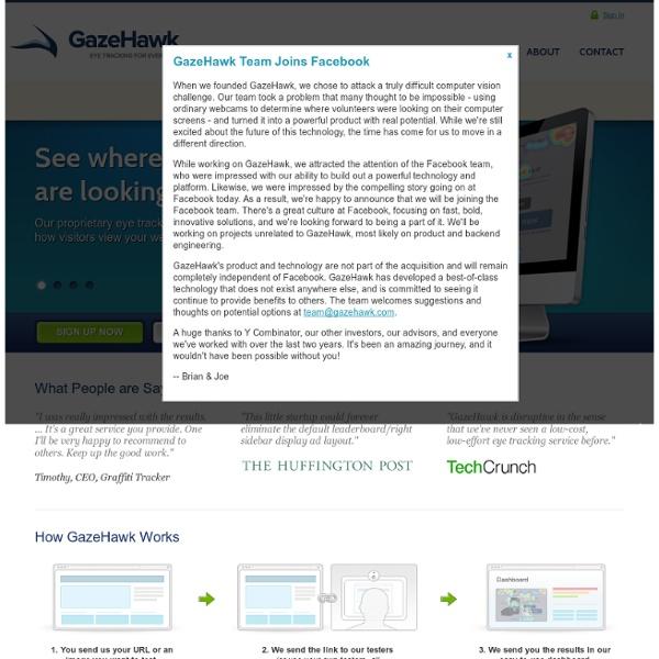 GazeHawk - Webcam Eye Tracking - Ad Testing and Optimization