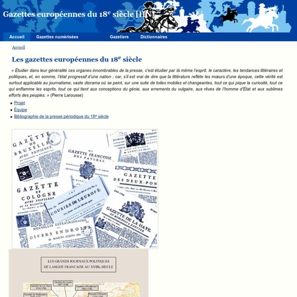 Gazettes européennes du 18e siècle