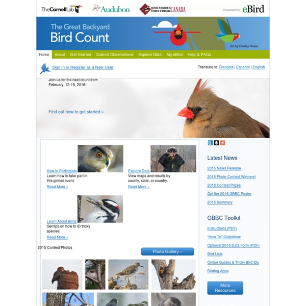 Welcome to GBBC — Great Backyard Bird Count