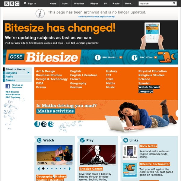 GCSE Bitesize - Homepage