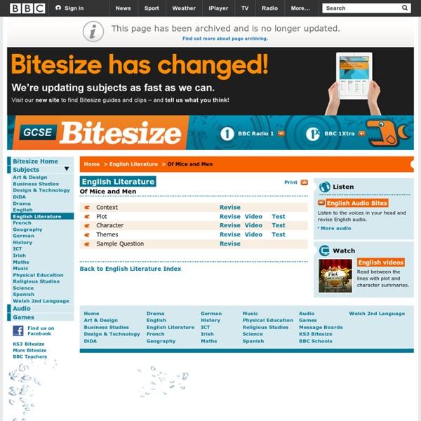 GCSE Bitesize - Of Mice and Men