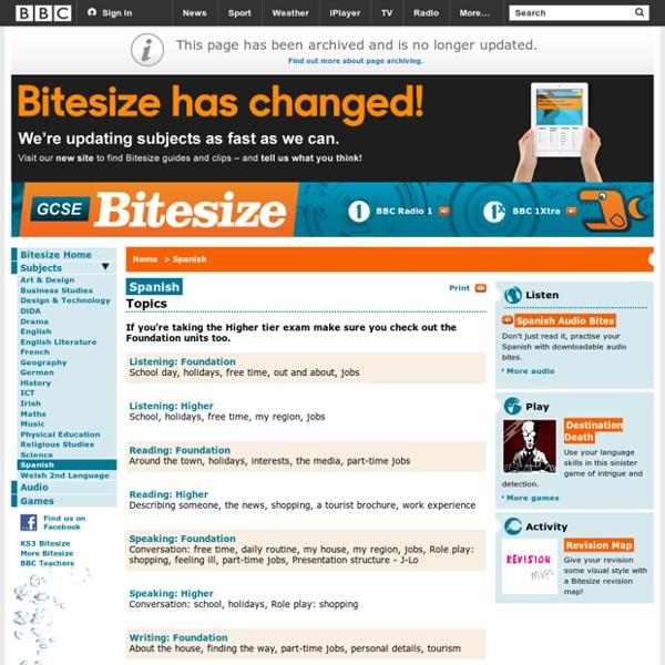 GCSE Bitesize - Spanish