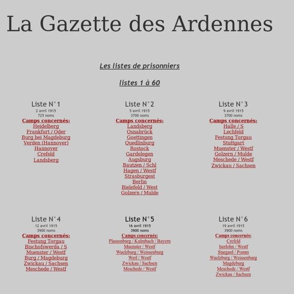 Liste prisonniers 14-18