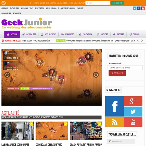 Geek Junior -Accueil - Geek Junior -