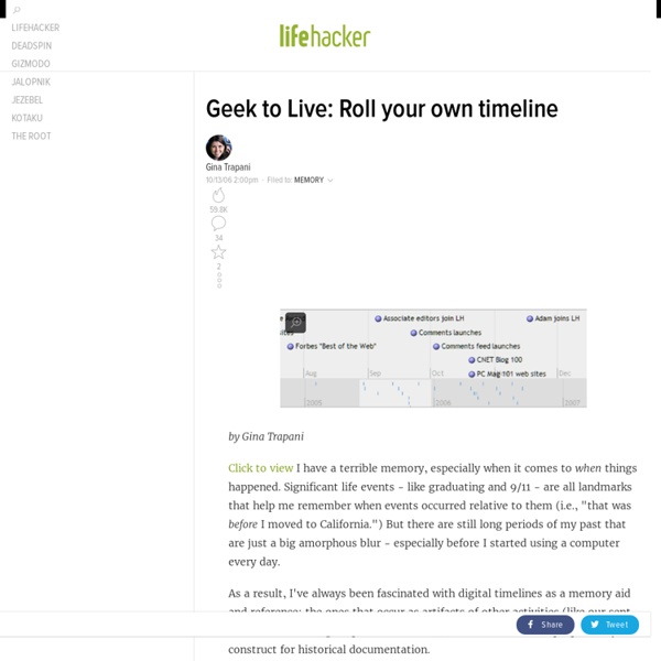 Geek to Live: Roll your own timeline