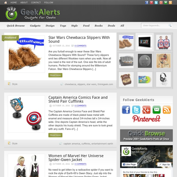 GeekAlerts - Geeky Toys, Gadgets & Shirts + Online Coupons & Promo Codes