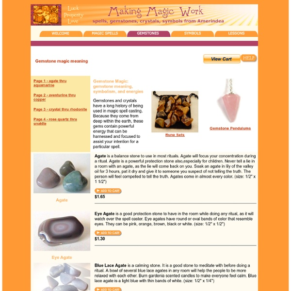 Gemstone meaning, magic meaning of gem stones