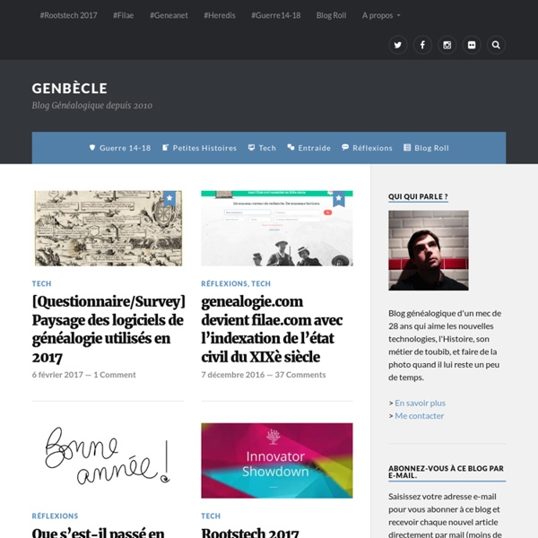 GenBECLE.org » Blog / Généalogie / Bècle