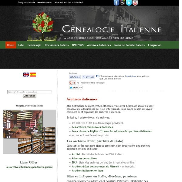 Archives italiennes - Généalogie